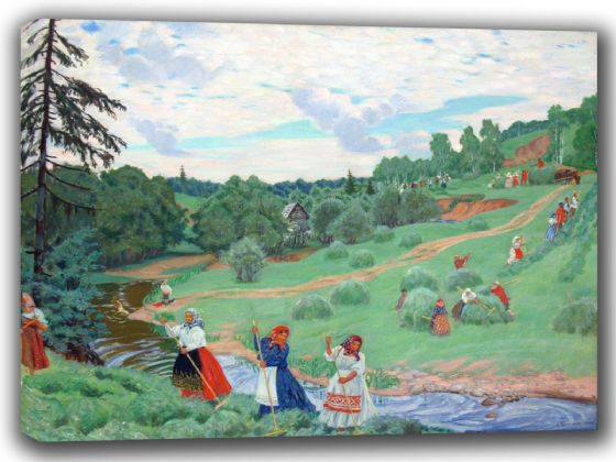 Kustodiev, Boris: Haymaking. Fine Art Canvas. Sizes: A4/A3/A2/A1 (002188)